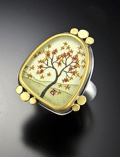 """Large Autumn Maple Ring"""