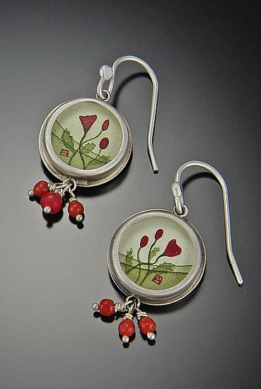Round Poppy Earrings