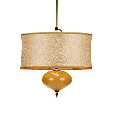 Sofia Pendant by Susan Kinzig and Caryn Kinzig (Mixed-Media Pendant Lamp)