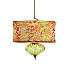 Sonya Pendant by Susan Kinzig and Caryn Kinzig (Mixed-Media Pendant Lamp)