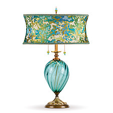 Lucille by Susan Kinzig and Caryn Kinzig (Mixed-Media Table Lamp)