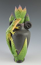 Lone Lizard Perfume by Nancy Y. Adams (Ceramic Perfume Bottle)