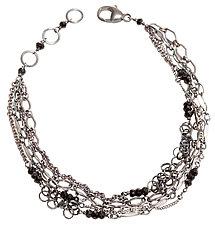 Five-Strand Layering Chain Bracelet by Chihiro Makio (Silver & Stone Bracelet)