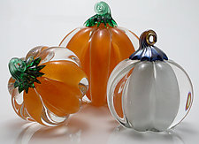 Pumpkins by Michael Richardson, Justin Tarducci, and Tim Underwood (Art Glass Paperweight)