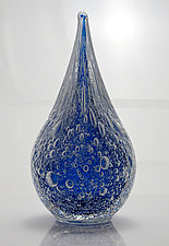 Water Drop Paperweight with Bubbles by Michael Richardson, Justin Tarducci, and Tim Underwood (Art Glass Paperweight)