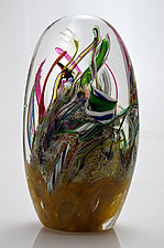 Tall Reef Paperweight by Michael Richardson, Justin Tarducci and Tim Underwood (Art Glass Paperweight)