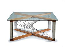 Argon by Peter Harrison (Wood, Concrete & Metal Coffee Table)