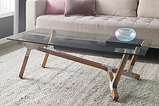 Maui by Peter Harrison (Wood & Aluminum Coffee Table)