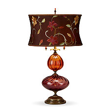 Violeta by Susan Kinzig and Caryn Kinzig (Mixed-Media Table Lamp)