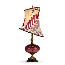 Makaela by Susan Kinzig and Caryn Kinzig (Mixed-Media Table Lamp)