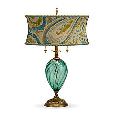 Lucia by Susan Kinzig and Caryn Kinzig (Mixed-Media Table Lamp)
