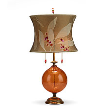 Natalia in Orange Glass by Susan Kinzig and Caryn Kinzig (Mixed-Media Table Lamp)
