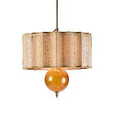 Tyler Pendant Lamp by Susan Kinzig and Caryn Kinzig (Mixed-Media Pendant Lamp)