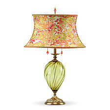 Sonya in Green by Susan Kinzig and Caryn Kinzig (Mixed-Media Table Lamp)