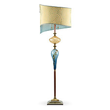 Troy by Susan Kinzig and Caryn Kinzig (Mixed-Media Floor Lamp)
