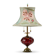 Joyce in Red by Susan Kinzig and Caryn Kinzig (Mixed-Media Table Lamp)