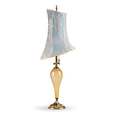Anika by Susan Kinzig and Caryn Kinzig (Mixed-Media Table Lamp)