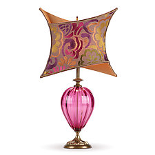 Nadia by Susan Kinzig and Caryn Kinzig (Mixed-Media Table Lamp)