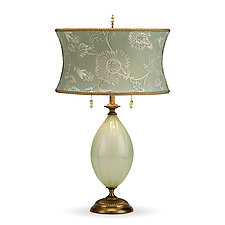 April by Susan Kinzig and Caryn Kinzig (Mixed-Media Table Lamp)