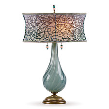 Heather by Susan Kinzig and Caryn Kinzig (Mixed-Media Table Lamp)