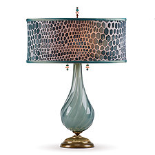 Angela by Susan Kinzig and Caryn Kinzig (Mixed-Media Table Lamp)