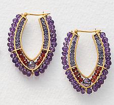 Beaded Hoop Earrings by Susan Kinzig (Beaded Earrings)