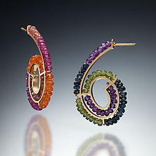 Spirals by Susan Kinzig (Beaded Earrings)