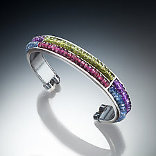 Gemstone Cuff by Susan Kinzig (Silver and Stone Bracelet)