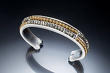 Pyrite and Hematite Cuff by Susan Kinzig (Beaded Bracelet)