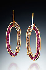 Gemstone Oval Earrings by Susan Kinzig (Gold & Stone Earrings)