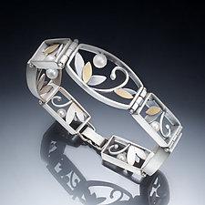 Mixed Metal Link Bracelet by Susan Kinzig (Gold, Silver & Stone Bracelet)