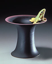 Top Hat Frog Vessel by Nancy Y. Adams (Ceramic Vessel)
