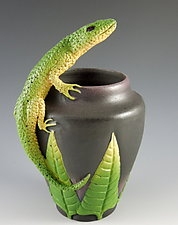 Lizard Vessel by Nancy Y. Adams (Ceramic Vessel)
