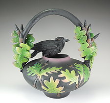Raven Oak Vessel by Nancy Y. Adams (Ceramic Vessel)