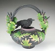 Raven Oak Vessel by Nancy Y. Adams (Ceramic Vessel)