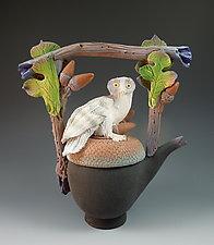 Spirit Owl Tea by Nancy Y. Adams (Ceramic Sculpture)