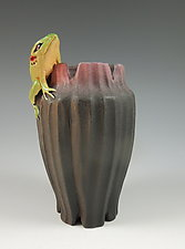 Frog Vase by Nancy Y. Adams (Ceramic Vase)