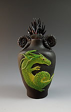 Green Dragon Perfume by Nancy Y. Adams (Ceramic Perfume Bottle)