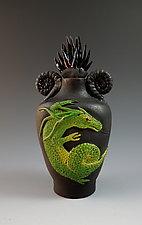 Green Dragon Perfume by Nancy Y. Adams (Ceramic Perfume Bottle)