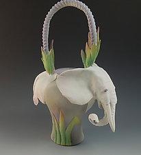 White Elephant Tea by Nancy Y. Adams (Ceramic Sculpture)