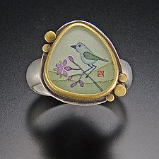 Bluebird Ring by Ananda Khalsa (Gold & Silver Ring)