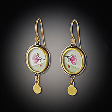 Magnolia Earrings by Ananda Khalsa (Gold & Silver Earrings)