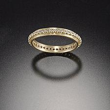 Raised Dot Band with Diamonds by Ananda Khalsa (Gold & Stone Wedding Band)