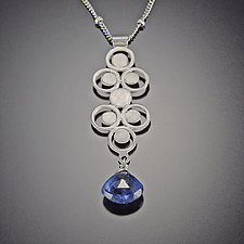 Kyanite Filigree Charm Necklace by Ananda Khalsa (Silver & Stone Necklace)
