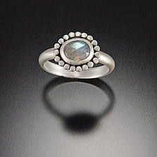 Labradorite Ring with Silver Halo by Ananda Khalsa (Silver & Stone Ring)