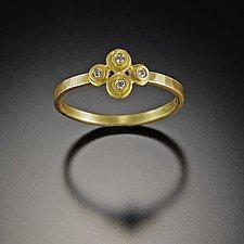 Raised Dot Diamond Ring by Ananda Khalsa (Gold & Stone Ring)
