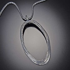 Oval Dig Pendant by Dahlia Kanner (Silver Necklace)