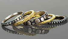 Stacking Rings by Dahlia Kanner (Gold & Silver Ring)