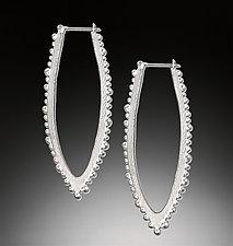 Bumpy Linear Hoop by Dahlia Kanner (Silver Earrings)