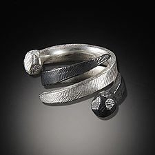 Spiral Rock Top Ring by Dahlia Kanner (Silver Ring)